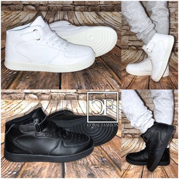 Coole KINDER Highcut Sportschuhe / Sneakers mit Klettverschluss