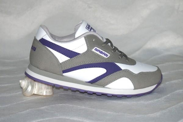 Unisex Sneakers Weiß / Grau / Lila