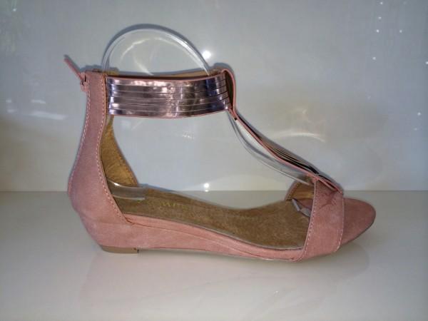 T-Strap Sandaletten HELL ROSA