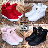 Fashion HIGHCUT klett Sportschuhe / Sneakers mit flacher Innensohle