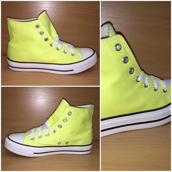 DENIM color Sportschuhe / Sneakers NEON GELB