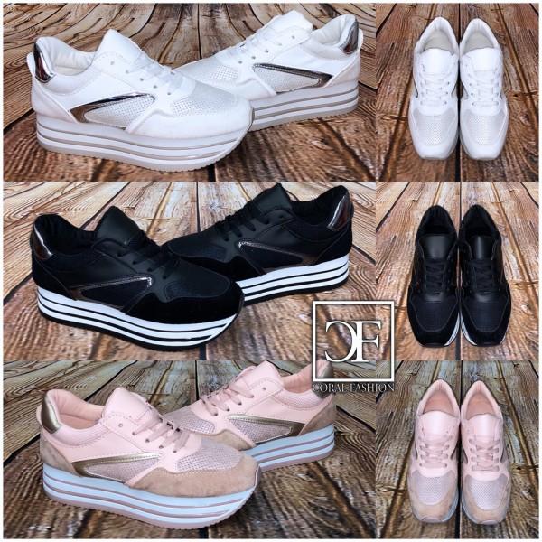 PLATEAU Fashion Stripe Sportschuhe / Sneakers in 3 Farben