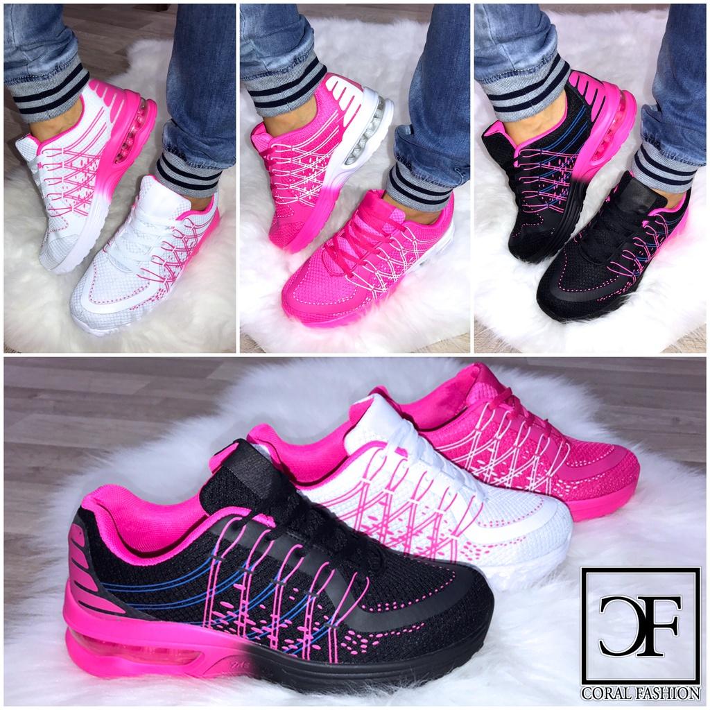 Coole Damen 2 Color Fashion LUFT Sportschuhe Sneakers