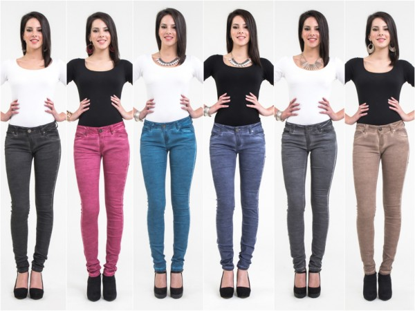 ANGEBOT - Sexy Fashion Skinny stretch JEANS in 6 Farben