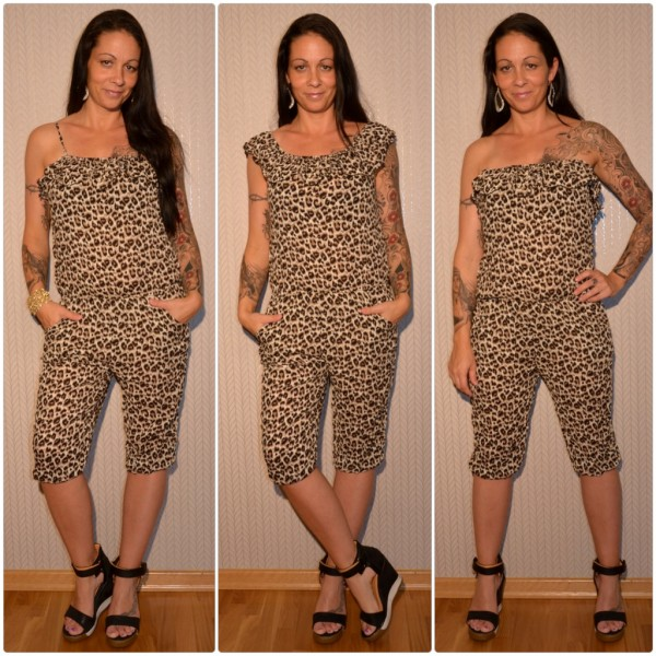 Sommer Jumpsuit / Overall 3 in 1 LEOPARDEN Muster