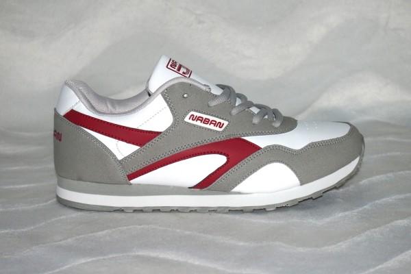 Unisex Sneakers Weiß / Grau / Rot
