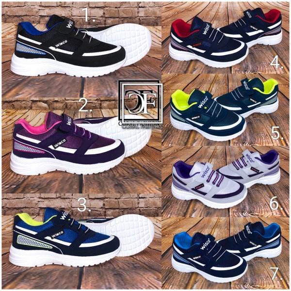 KINDER LUFT Sportschuhe Sneakers mit Klettverschluss (Größe 31-35)
