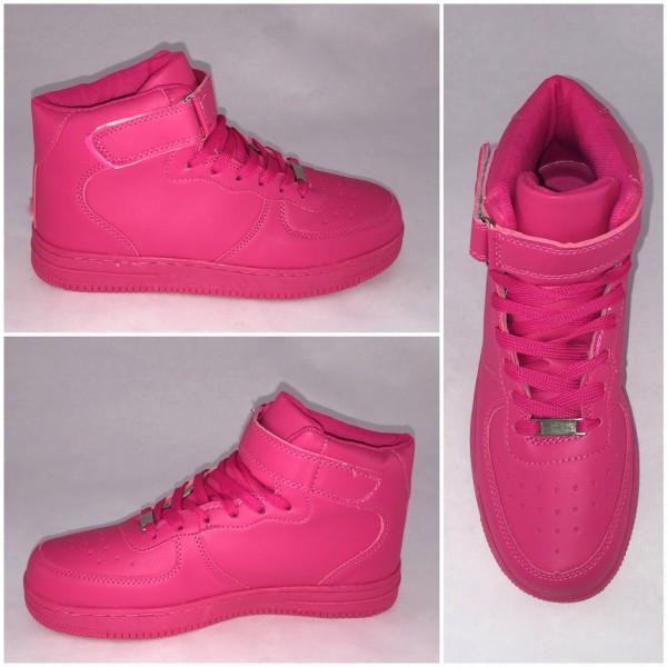 *BIGcut* NEW Style Highcut KLETT Sportschuhe / Sneakers FUCHSIA