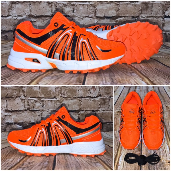 HERREN New Stripe Sportschuhe / Sneakers ORANGE + extra Schnürsenkel
