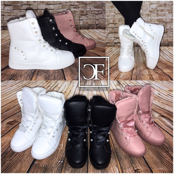 Mit Nieten Stiefeletten Boots Sneakers Gefüttert Winter Herbst Perlenamp; W2EIHD9