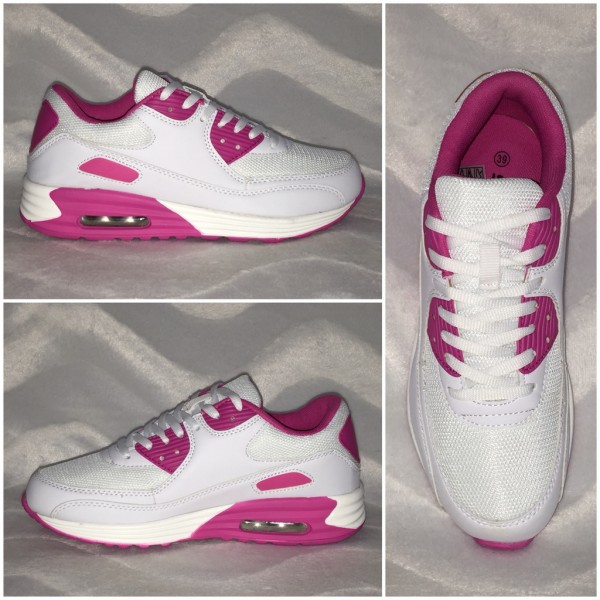*WOW* New Style LUFT Sportschuhe / Sneakers WEISS / PINK