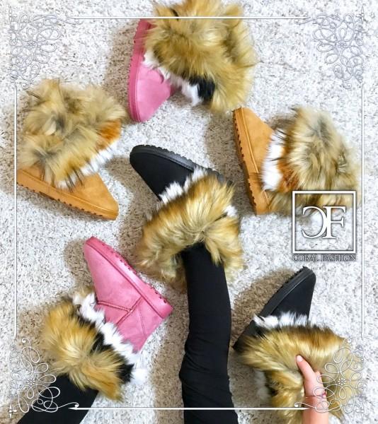 KINDER Herbst / Winter Boots / Stiefel mit Kunstfell gefüttert