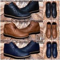 Herren Kunstleder HIGH CUT Boots Stiefel zum Schnüren in 3 Farben