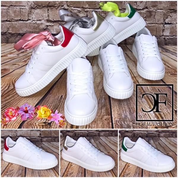 Fashion PEARL Stripe LOW CUT Sportschuhe Sneakers + GRATIS Schnürsenkel