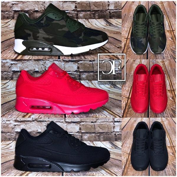 HERREN NET print LUFT Sportschuhe / Sneakers in 3 Farben