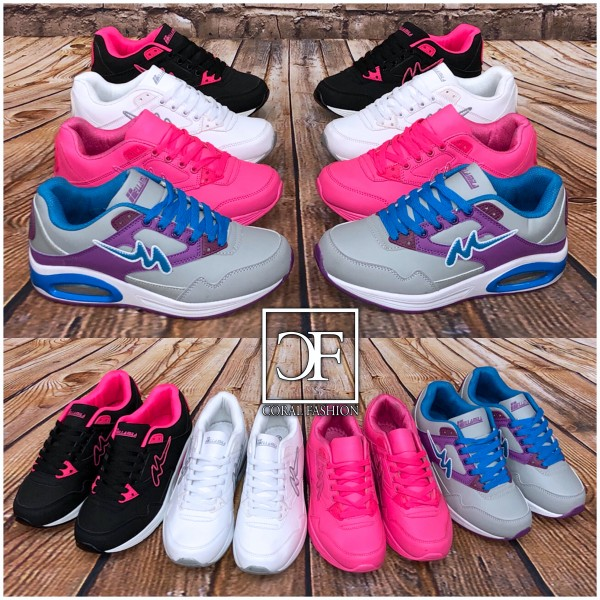 Color DOUBLE LUFT Sportschuhe / Sneakers in 4 Farben