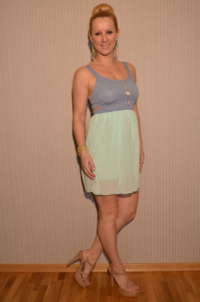 Luftiges Kleid in Jeans Optik MINZE