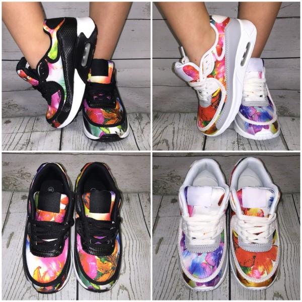 KINDER New Style LUFT Sportschuhe / Sneakers mit Blumen / Flower