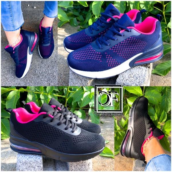 Damen Knitted XXL LUFT Sportschuhe Sneakers in 2 Farben Unisex