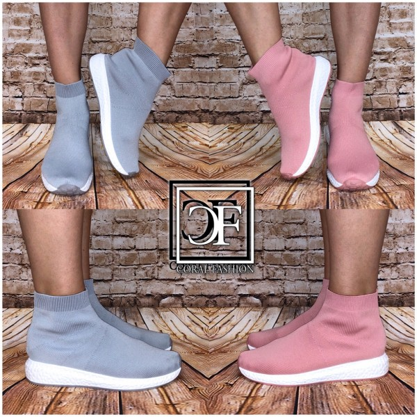 the latest 2d13d 1eaab Coole Damen Stretch Knit Sportstiefel Highcut Socken Sportschuhe / Sneakers  in Boots Look