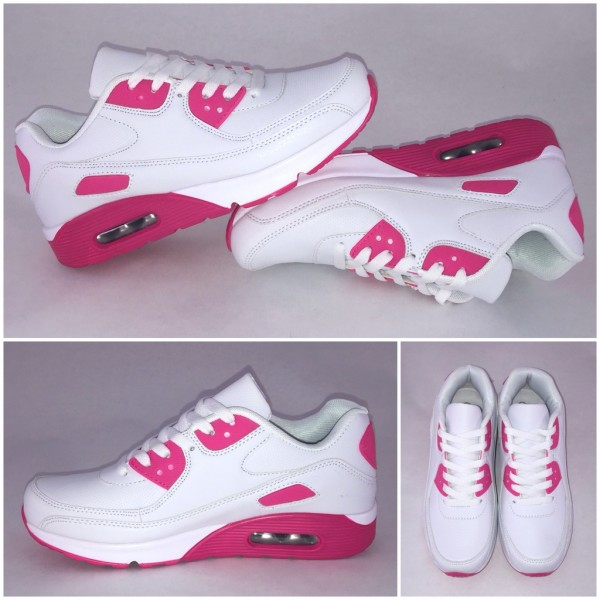 New Style LUFT Sportschuhe / Sneakers WEISS / PINK