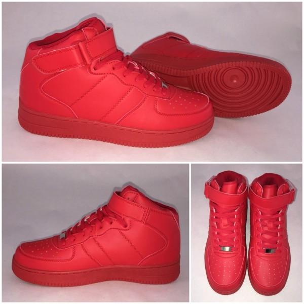 HERREN *NEW Style Highcut KLETT Sportschuhe / Sneakers ROT