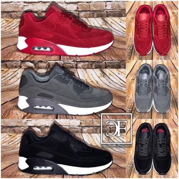 UNISEX Rauleder-Look LUFT Sportschuhe / Sneakers in 3 Farben