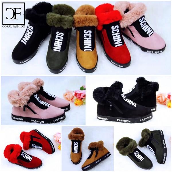 Herbst Winter SCHINO SPORT Fashion Sneakers mit seitlichem Zipp gefüttert