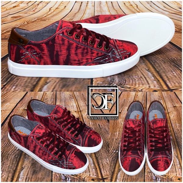 HERREN Schuhe / Sneakers / Sportschuhe DENIM Jeans ROT