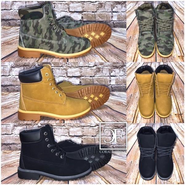 Super bequeme HERREN High Cut Kunstleder Boots / SCHNÜRBOOTS