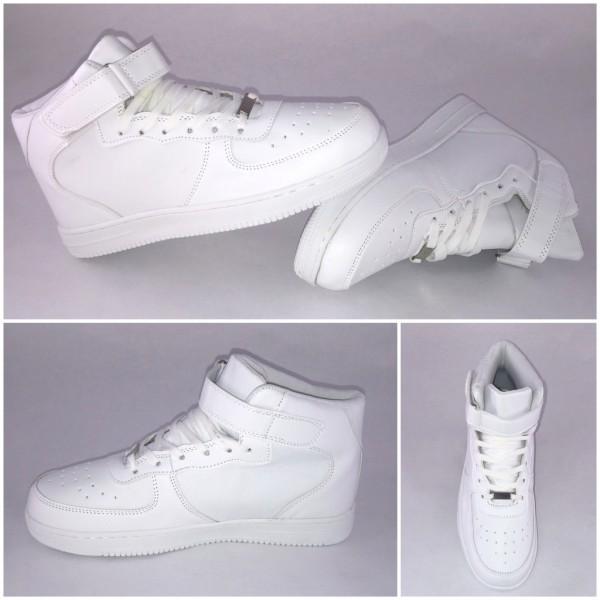 *BIGcut* NEW Style Highcut KLETT Sportschuhe / Sneakers WEISS