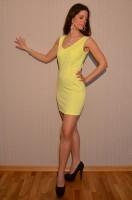 *AKTION* Sexy figurbetontes Mini Kleid GELB