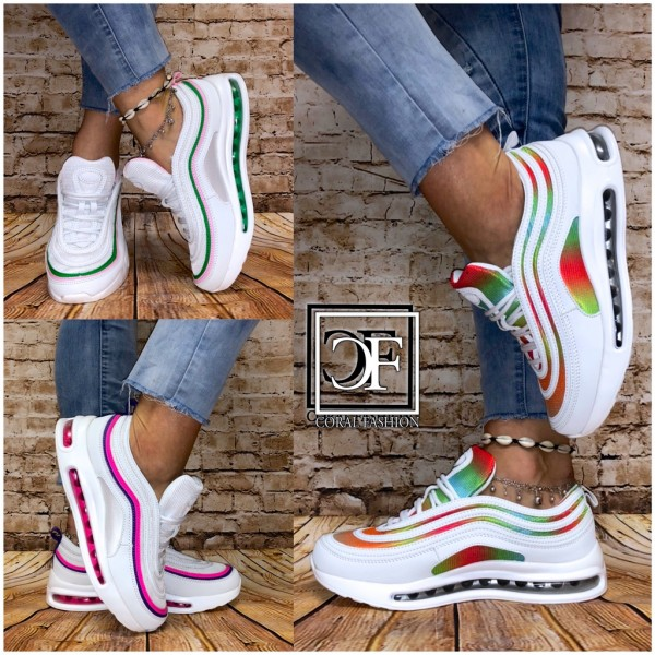 Bequeme Damen FULL LUFT Stripe Sportschuhe Sneakers in 3 Farben