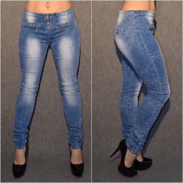 Tolle HIGH WAIST stretch Jeans mit Zipp