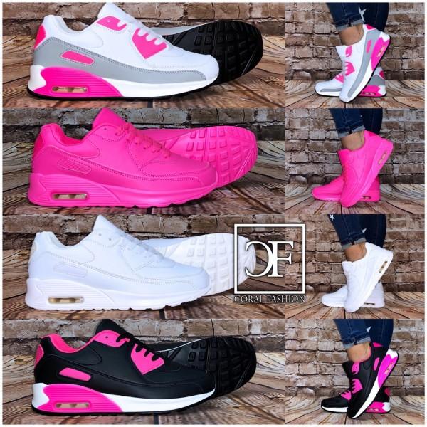 Damen Color MIX LUFT Sportschuhe / Sneakers in 4 Farben