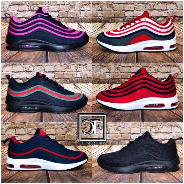 Damen Double Stripe LUFT Sportschuhe Sneakers Multi Color