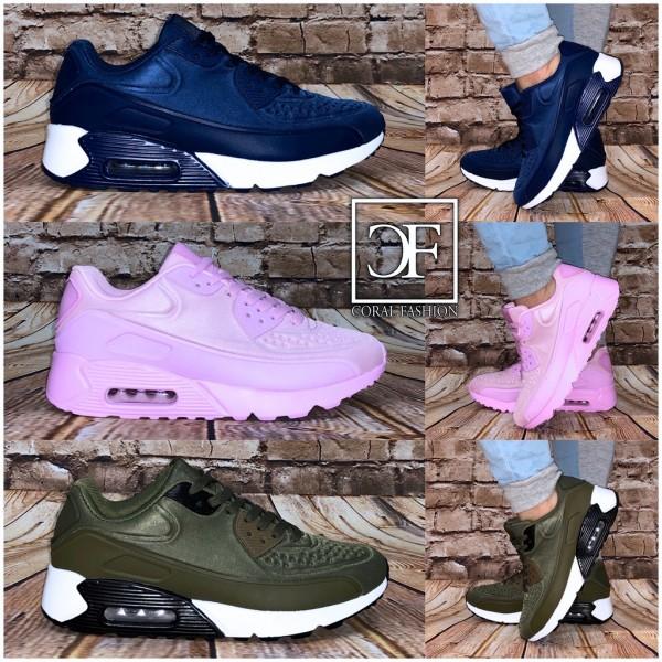 Damen NET print LUFT Sportschuhe / Sneakers in 3 Farben