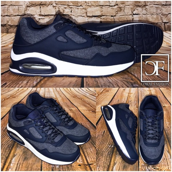 New BASIC DOUBLE Denim LUFT Herren / Unisex Sportschuhe / Sneakers BLAU