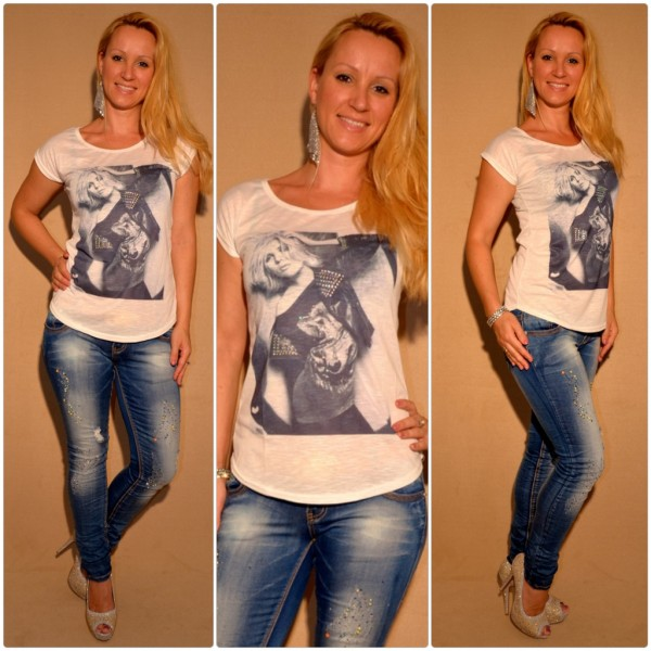 Stylisches Shirt Modell: LADY / WEISS