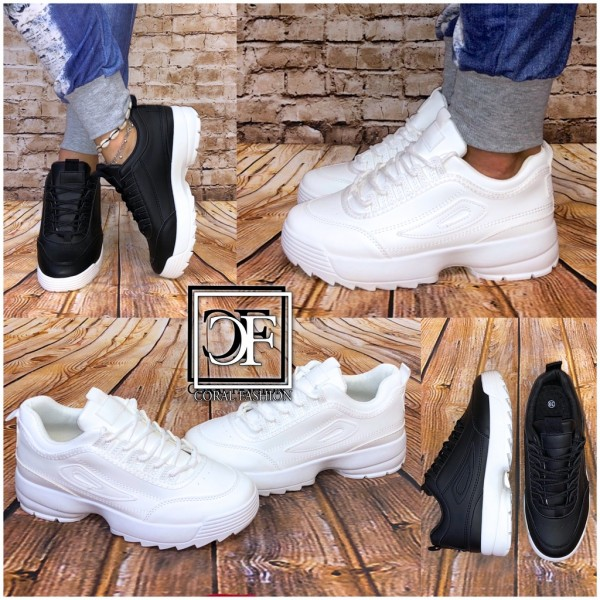 Bequeme Damen Trend Chunky Sneakers Sportschuhe in 2 Farben