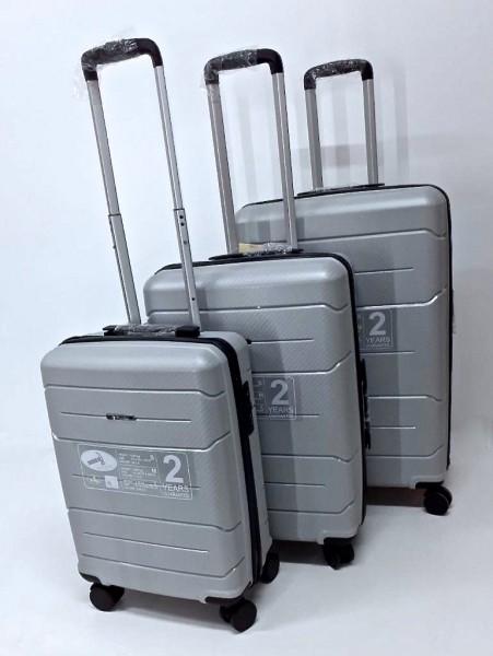 Hartschalen Reisekoffer Koffer Hardcase Trolley mit Zahlenschloss Kofferset 4 Rollen SILBER