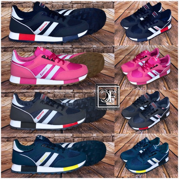 Damen Kinder 2 STRIPE Sportschuhe Sneakers in 4 Farben