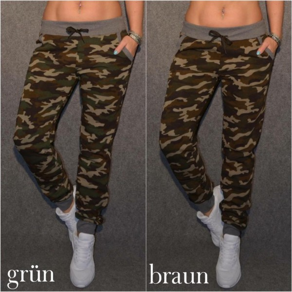Super dicke WINTER Sweat CAMOUFLAGE Hose