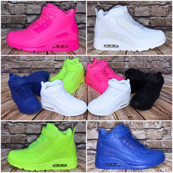 Coole KINDER Highcut LUFT Sportschuhe / Sneakers mit Klettverschluss