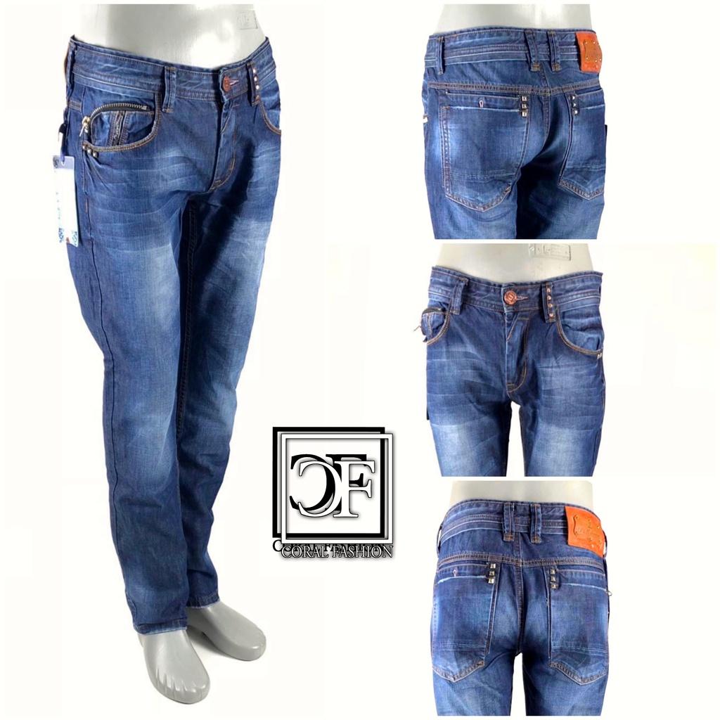 849b4e80c5565 HERREN Men Fashion DENIM JEANS Hose blau