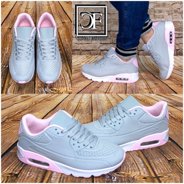 100% authentic 7b8ba 59539 Damen NET print LUFT Sneakers Sportschuhe GRAU Rosa