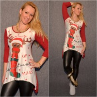 Lässige Tunika MERRY CHRISTMAS / Weihnachten & Rentier BORDO
