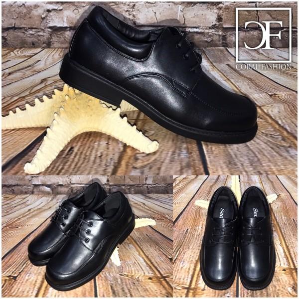 Elegante / festliche KINDER Schuhe mit 3 fach Schnürung SCHWARZ Mod.1