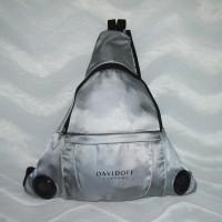DAVIDOFF Rucksack mit Lautsprechern Silber / Grau