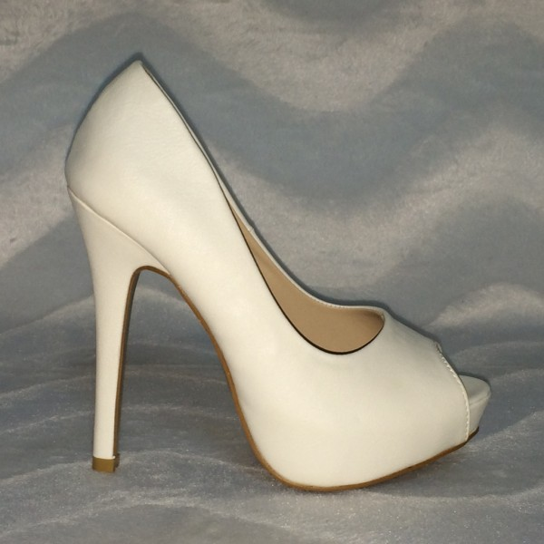 Plateau Peep Toes WEISS